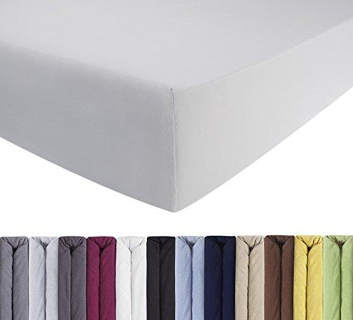 entspanno jersey luxus spannbettlaken f r wasser und boxspringbett in wei aus gek mmter. Black Bedroom Furniture Sets. Home Design Ideas